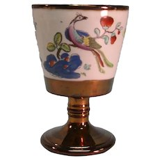 Copper Luster Goblet with Chinoiserie Transfer ca. 1825