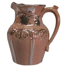English Gothic Revival Jug with Luster  ca. 1845