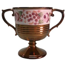 Copper Luster Loving Cup with Painted Band ca. 1835