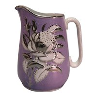 Lavender and Silver Luster Relief Molded Jug ca. 1850
