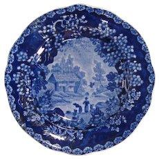 "Staffordshire Adams ""Washerwomen"" plate ca. 1830"