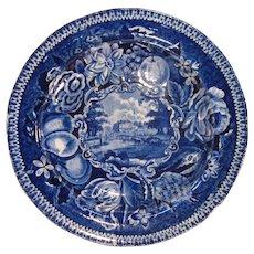 """Staffordshire Plate """"Eashing Park Surrey""""ca. 1830"""