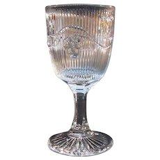 Bellflower Flint Wine or Champagne ca. 1860