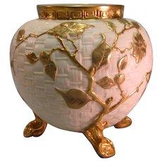 Royal Worcester Large Footed Vase 1891