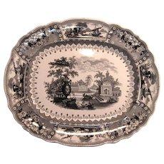 """Staffordshire Transfer """"Canova"""" Platter ca. 1835"""