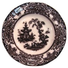 Corean Mulberry Ironstone Soup Plate ca. 1850