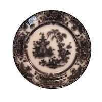 "Corean Mulberry Ironstone 10 3/4"" Plate ca. 1850"