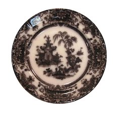 "Corean Mulberry Ironstone 10 3/4"" Plate ca. 1850"