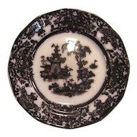"Corean Mulberry Ironstone 8"" Plate ca. 1850"