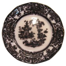 "Corean Mulberry Ironstone 8"" Plate ca. 1850"