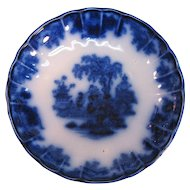 Scinde Flow Blue Pudding Dish ca. 1850
