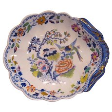 "Shell Shaped ""Stone China"" Dish ca. 1825"