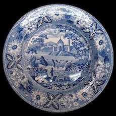 Staffordshire Blue and White Soup Plate ca. 1830