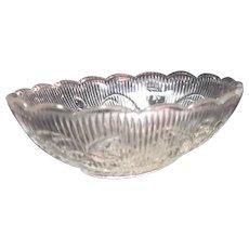 Flint Bellflower Pattern Oval Dish ca. 1850