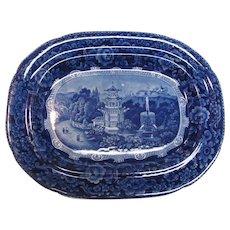 Dark Blue Staffordshire Platter ca. 1835