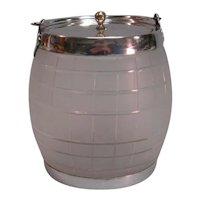 Silverplate and Glass Biscuit Jar