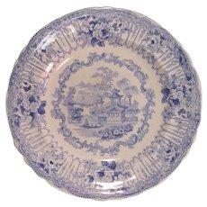 "Staffordshire Plate ""Manhattan"" ca. 1835"
