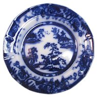 Hong Kong Pattern Flow Blue Plate