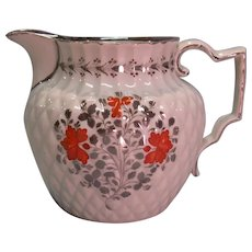 """Pearlware """"Pineapple"""" Jug with Silver Luster ca. 1805"""