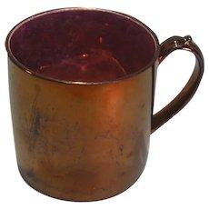"""Large Copper Luster """"Cider"""" Mug ca. 1835"""