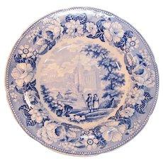 "Staffordshire Soup Plate ""Byland Abbey"" ca 1835"