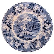 Rorstrand Blue Transfer Plate ca. 1835