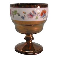 Copper Luster Goblet with Floral Band ca. 1840