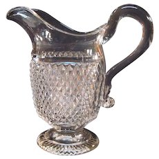 Diamond Point Flint Creamer ca. 1860