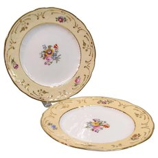 Pair English Floral Plates ca. 1840
