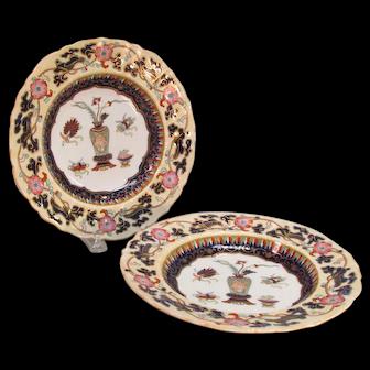 Pair Mason's Ironstone Soup Plates ca.1840