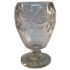 Anglo/Irish Cut Glass Vase