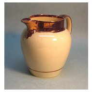 Large Copper Luster Trim Pitcher (Jug)