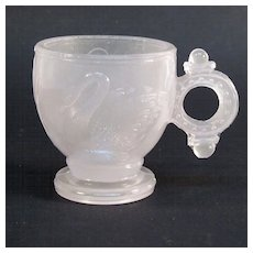 1880's Glass Swan Pattern Childs Cup - Red Tag Sale Item