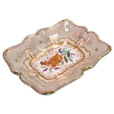 Davenport Floral Decorated Dish ca. 1835-40