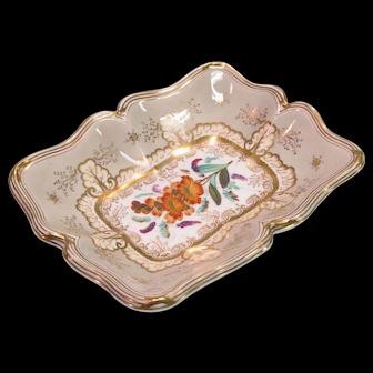 Davenport Floral Decorated Dish ca. 1835-40