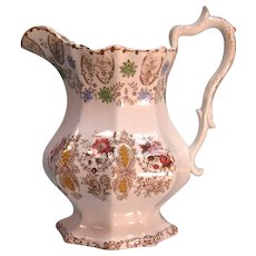 Staffordshire Transfer Pitcher ca. 1845