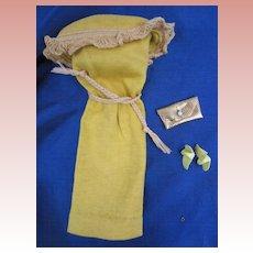 Vintage Gold Knit Dress for Barbie