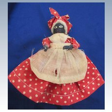 Very Old Tiny Black Doll