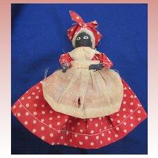 Very Old Tiny Black Doll