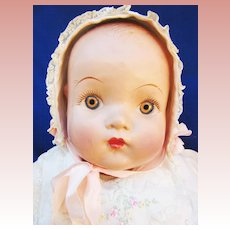 Large Compo Baby with Vintage Clothing