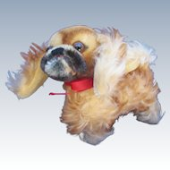 Vintage Steiff Peky Pekinese Medium Dog.