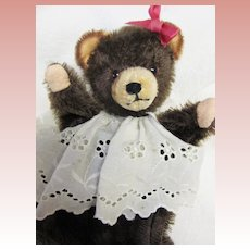 Vintage Mohair Bear Hand Puppet, likely Steiff