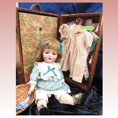 Antique Doll's Trunk full of Clothes and Extras
