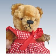 Vintage Jointed American Teddy Bear in Sundress