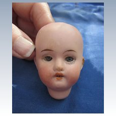 Antique Small Herm Steiner Bisque Doll Head with Eye Rocker