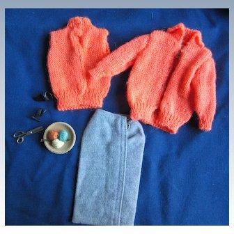 Vintage Tagged Barbie Knitting Pretty