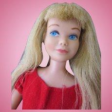 Vintage Sixties Mattel Skipper Doll in Tagged Dress