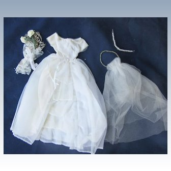 Vintage Tagged Barbie Wedding Dress 2nd Version