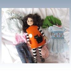 "Wardrobe of clothing for 14"" Effner Little Darling"