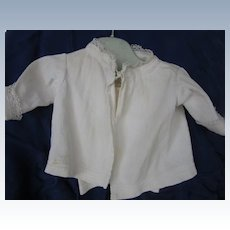 Vintage pique corded Jacket for larger Baby Doll with Undershirt